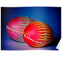 Easter Eggs decorated in a traditional technique Poster