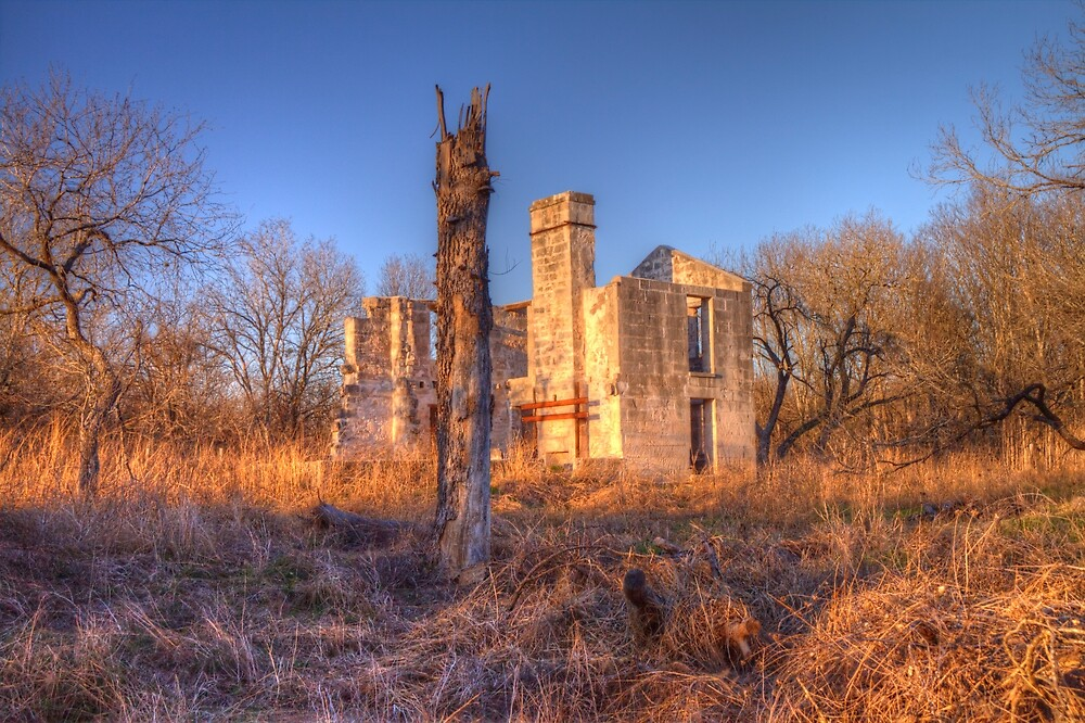 McKinney Homestead at McKinney Falls State Park by Terence Russell