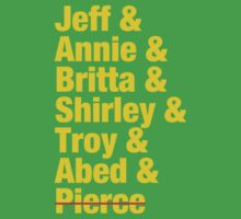 Community Jeff & Annie & Britta & Shirley & Troy & Abed & Pierce Shirt Kids Tee