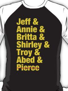 Community Jeff & Annie & Britta & Shirley & Troy & Abed & Pierce Shirt T-Shirt