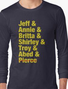 Community Jeff & Annie & Britta & Shirley & Troy & Abed & Pierce Shirt Long Sleeve T-Shirt