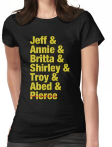 Community Jeff & Annie & Britta & Shirley & Troy & Abed & Pierce Shirt Womens Fitted T-Shirt