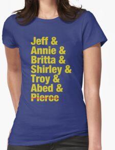 Community Jeff & Annie & Britta & Shirley & Troy & Abed & Pierce Shirt Womens Fitted T-Shirt