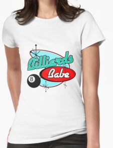 Billiards Babe Womens Fitted T-Shirt