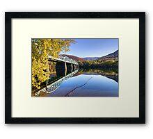 Arch Street Bridge In Autumn Framed Print
