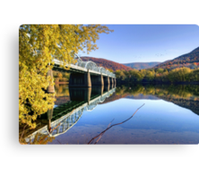 Arch Street Bridge In Autumn Canvas Print