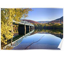 Arch Street Bridge In Autumn Poster