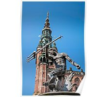 Neptune statue. Poster
