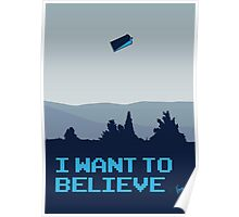 My I want to believe minimal poster- Tradis / Dr Who Poster