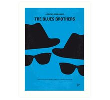 No012 My Blues brothers minimal movie poster Art Print