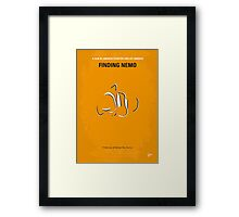 No054 My Finding Nemo minimal movie poster Framed Print