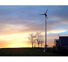 Northern Ireland Farm Sunset Photographic Print