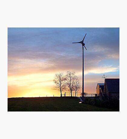 Northern Ireland Farm Sunset Photographic Print