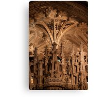Ely Cathedral stonework Canvas Print