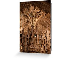 Ely Cathedral stonework Greeting Card