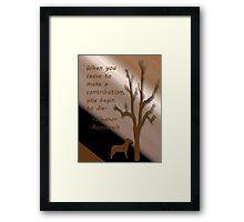 Eleanor Roosevelt quote Framed Print
