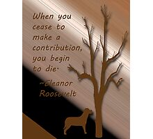 Eleanor Roosevelt quote Photographic Print