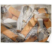 Cigarette chaos. Poster