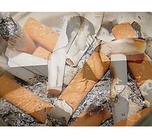Cigarette chaos. Photographic Print