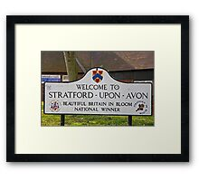 Welcome to Stratford Upon Avon sign Framed Print