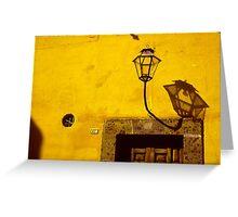Lamp & Door/Wall-Yellow  Greeting Card