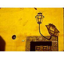 Lamp & Door/Wall-Yellow  Photographic Print