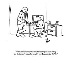 Funny Financial Cartoon Photographic Print