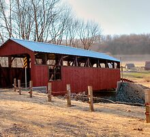 "The ""New"" Moreland Covered Bridge by Gene Walls"