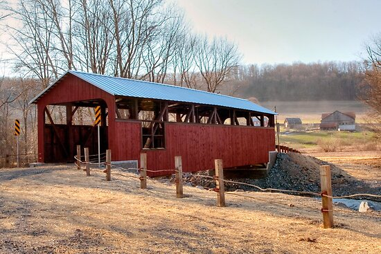 """The """"New"""" Moreland Covered Bridge by Gene Walls"""