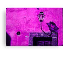 Lamp & Door/Wall-Magenta Canvas Print