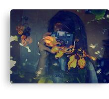 Autumn photographer. Canvas Print