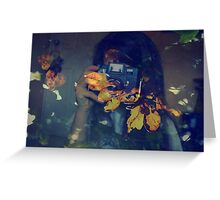 Autumn photographer. Greeting Card