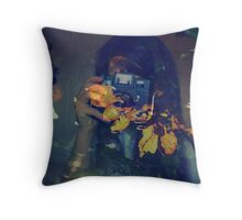 Autumn photographer. Throw Pillow