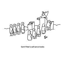 Funny Heaven Cartoon Photographic Print
