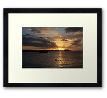 Sunset Jamaica Framed Print