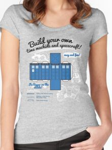 Build your own time machine and spacecraft! Women's Fitted Scoop T-Shirt