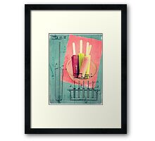 Invention of the Ice Pop Framed Print