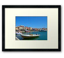 Aegean Dock Framed Print