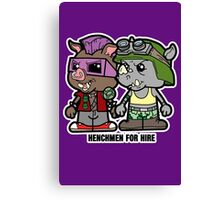 Lil Rocksteady and Bebop Canvas Print