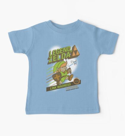 Legend of Zelda - Mario 2 Box Art - Style Baby Tee