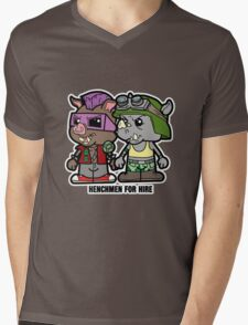Lil Rocksteady and Bebop Mens V-Neck T-Shirt