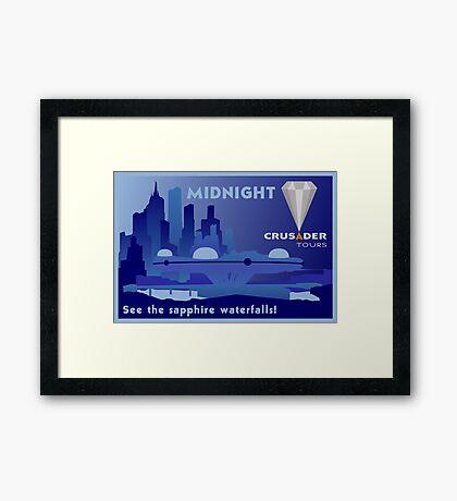 Visit Beautiful Midnight! Framed Print