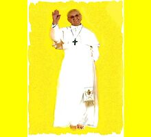 Pope Francis ipad case by MURRAY BROUGH