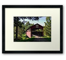 Approaching The Buckhorn Covered Bridge From The Far Side Framed Print