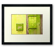 Door & Wall-series (yellow & green) Framed Print