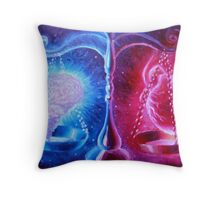 The eternal Dilema the soul or the mind the heatr or the brain Throw Pillow