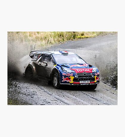Sebastien Loeb 2 WRC Rally GB Photographic Print