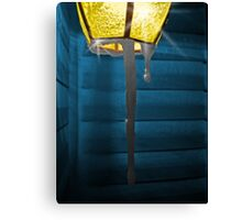 Icicles On Lamp Canvas Print