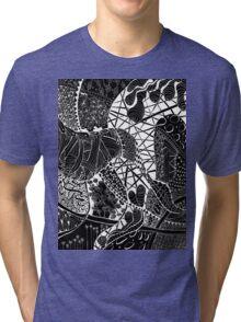 Zen doodle spiritual abstract art Tri-blend T-Shirt