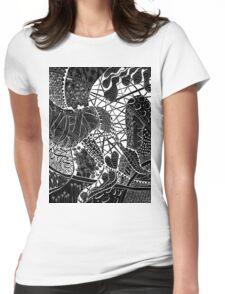 Zen doodle spiritual abstract art Womens Fitted T-Shirt